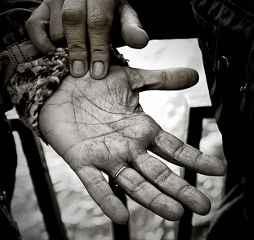 immagine del palmo di una mano